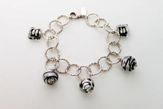 MC6-С/maz Браслет цвет серебро муранское стекло