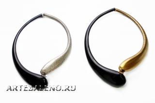 DM09 Колье с золотой или серебряной половиной муранское стекло
