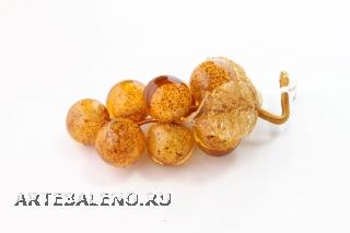 533/H Виноградная гроздь с 9 ягодами (дл. 12 см) муранское стекло