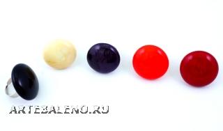 RS52-A Кольцо Матовая фантазия 5 цветов, муранское стекло