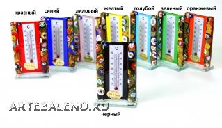 N50 Термометр комнатный h 9см 8 цветов муранское стекло