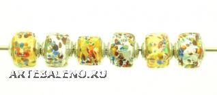TR21 Набор из 6 бусин-кубиков Scaglie (Скалье) муранское стекло
