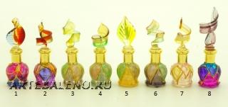 B01/M (3) Флакончик-миньон Аромат Востока  h6-8см серия Винтаж муранское стекло