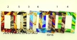 ISV26 Фоторамка 10х12,5см 6 цветов муранское стекло