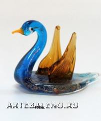 460/E Скульптура лебедь мал. (дл. 8,5см) муран.стекло