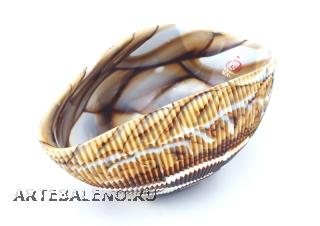Yalos 9194 Блюдо Shell маленькое 17,5х11см муранское стекло