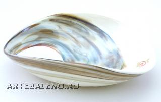Yalos 9193 Блюдо миньон 18х14х5см дизайн Fossile муранское стекло