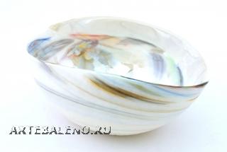 Yalos 9058 Ваза миньон 16,5х11,5х7,5 см дизайн Fossile муранское стекло