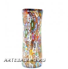 MD29 Ваза с мурринами и золотом 17 см муранское стекло