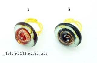 VC22 Кольцо Атолл диам. 2,5см, цвет канта серый муранское стекло