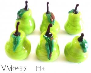 VM0435 Зеленая груша муранское стекло