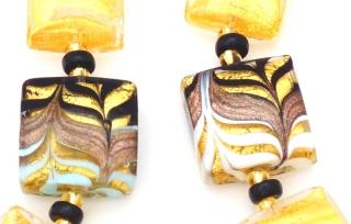 2017-77 Колье Золотой лес. Анри Руссо. 2 цвета, муранское стекло