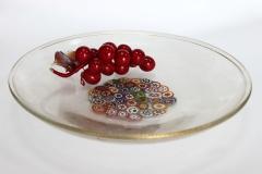 473/G&P Блюдо декор. прозрачно-золот.черно-золот. с мурринами диам.40