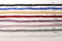 Ожерелье бисер 6 рядов стеклярус 50см различные цвета
