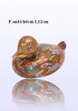 F.an16 Уточка (дл. 12см) муранское стекло