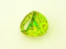 NV15 Кольцо Бонди' удлиненное Шамаре' 3,5см цвет зелено-золотой