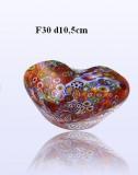 F30 Блюдо миньон сердце диам.10,5cm муранское стекло