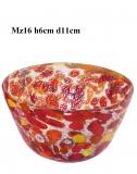 Mz16 Блюдо мален.декорат.диам.11h6cm муранское стекло