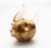 445/A Статуэтка Рыба-мяч с мурринами (выс. 10см) муранское стекло