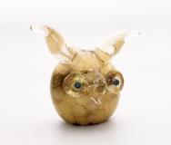 445/С Статуэтка Филин с мурринами (выс. 9см) муранское стекло