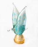 579/NEW Статуэтка Чайка на подставке с золотом (высота 22см) муранское стекло