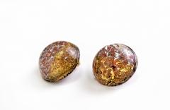 NV43 Серьги-клипсы Бамби диам. 2,1см муранское стекло