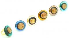 RS18-A Кольцо Лагуна муранское стекло разл.цвета