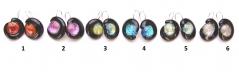 RS25-O Серьги Неоновые огни с дикроико 6 цветов муранское стекло