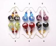 2012-74/maz/новые цвета Серьги 6 цветов муранское стекло