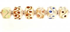 TR23 Набор из 6 бусин-кубиков Onda bizantina муранское стекло