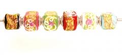 TR24 Набор из 6 бусин-кубиков Serenissima муранское стекло