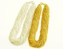 CN30 Бисер 60 нитей золотой и серебристый 48(+5)см