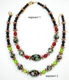 2014-46/maz Колье линия Культурное наследие Реплика №1 45+5см муранское стекло