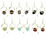 RS81-C Серьги Синто 7 цветов муранское стекло