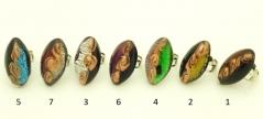 VB08 Кольцо 3,5х1,5см. 7 цветов муранское стекло