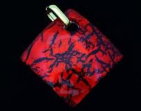 Арт.01 красный - подвеска 4x4 см муранское стекло