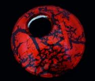 Арт.01 красный - подвеска диам.5 см муранское стекло