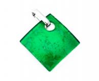 Арт. 02 зеленый - подвеска 3x3 см муранское стекло