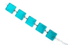 Арт. 02 морская волна - браслет с 5 круглыми элементами 1,8см
