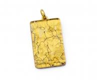 Арт.01 золотой - подвеска 2x3см муранское стекло