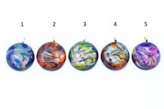 CV06 Подвеска кпуглая Северное сияние муранское стекло 5 цветов