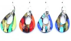 RD14 Подвеска Блюз 5х3,2см 4 цвета муранское стекло