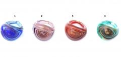 RD19 Кольцо Тарантелла 4 цвета муранское стекло