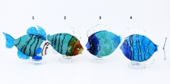 GRos06(2) Статуэтка Тропическая рыбка 4 цвета муранское стекло