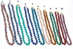 MosSMR/8/45/maz Колье с бусинами соммерсо 45см 10 цветов муранское стекло