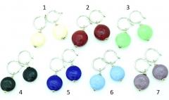 Vac/O Soffiato(5) Серьги дутые круглые сплюснутые моноколор муранское стекло