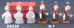 04239 Ангел со свечой стеклянный 7см в подарочной коробке 2 цвета