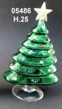 05486 Елка стеклянная цвет зеленый 25 см
