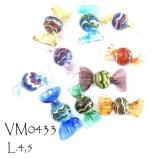 VM0433 Конфеты с финикийским узором различные цвета муранское стекло