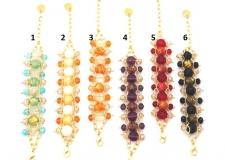 Vac/B9483 Браслет Frank 6 цветов муранское стекло